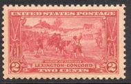 618 2c Lexington-Concord F-VF Mint NH 618nh