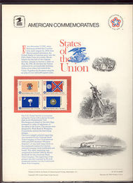 1633-82 13c State Flags-Block of 4 USPS Cat. 62  Commemorative Panel cp62