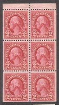 634d 2c Washington Booklet Pane of 6 Mint NH 634dbk