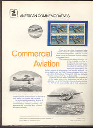 1684 13c Commercial Aviation USPS Cat. 64  Commemorative Panel cp064