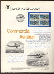 1684 13c Commercial Aviation USPS Cat. 64  Commemorative Panel cp064