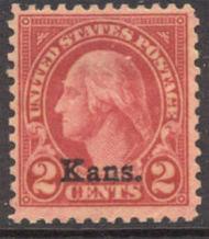 660 2c Washington Kansas Overprint AVG Mint, hinged 660ogavg
