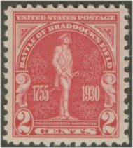 688 2c Braddock's Field F-VF Mint NH 688nh