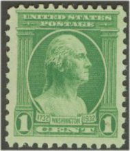 705 1c Washington Bicentennial F-VF Mint NH 705nh