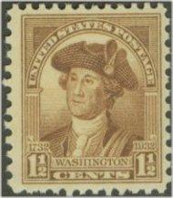 706 1 1/2c Washington Bicentennial F-VF Mint NH 706nh