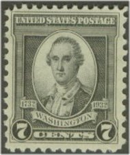 712 7c Washington Bicentennial F-VF Mint NH 712nh