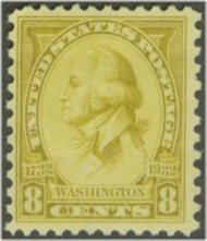 713 8c Washington Bicentennial F-VF Mint NH 713nh