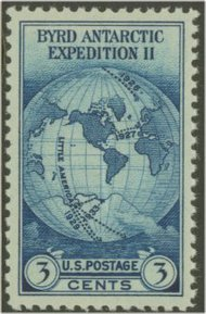 753  3c Byrd Expedition Perforated F-VF Mint NH 753nh