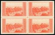 757 2c Grand Canyon Imperforate Center Line Block 757clb