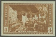 759 4c Mesa Verde Imperforate F-VF Mint NH 759nh