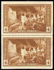 759 4c Mesa Verde Imperforate Vertical Pair Horizontal Line 759vphg