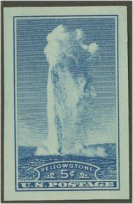 760 5c Old Faithful Imperforate F-VF Mint NH 760nh