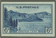 761 6c Crater Lake Imperforate F-VF Mint NH 761nh
