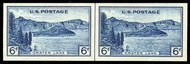 761 6c Crater Lake Imperforate Horizontal Pair Vertical Line 761hpvg