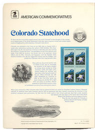 1711 13c Colorado USPS Cat. 77 Commemorative Panel cp077