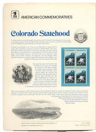 1711 13c Colorado USPS Cat. 77 Commemorative Panel cp077