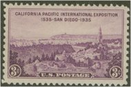 773 3c San Diego Fair F-VF Mint NH 773nh