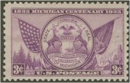 775 3c Michigan Plate Block 775pb