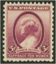 784 3c Susan B Anthony F-VF Mint NH 784nh