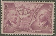 795 3c Northwest Territory F-VF Mint NH 795nh