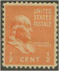 803 1/2c Franklin F-VF Mint NH 803nh