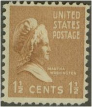 805 1 1/2c Martha Washington F-VF Mint NH 805nh