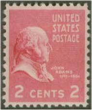 806 2c John Adams F-VF Mint NH 806nh