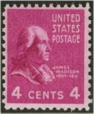 808 4c James Madison F-VF Mint NH 808nh