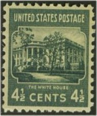 809 4 1/2c White House F-VF Mint NH 809nh