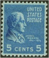 810 5c James Monroe F-VF Mint NH 810nh