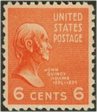 811 6c John Q. Adams F-VF Mint NH 811nh