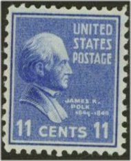 816 11c James Polk F-VF Mint NH 816nh