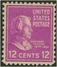 817 12c Zachary Taylor F-VF Mint NH 817nh