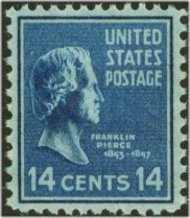 819 14c Franklin Pierce F-VF Mint NH 819nh