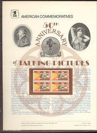 1727 13c Talking Picture USPS Cat. 85  Commemorative Panel cp085