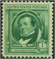859 1c Washington Irving F-VF Mint NH 859nh