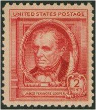 860 2c James F. Cooper F-VF Mint NH 860nh