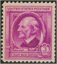 861 3c Ralph W. Emerson F-VF Mint NH 861nh