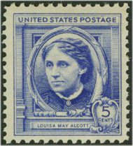 862 5c Louisa May Alcott F-VF Mint NH 862nh