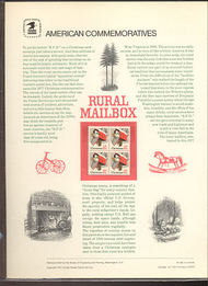 1730 13c Christmas-Rural Mail Box USPS Cat. 89 Comm Panel cp089