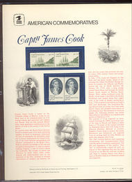 1732-33 13c Captain Cook USPS Cat. 91 Commemorative Panel 2cp091