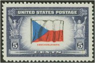 910 5c Czechoslovakia F-VF Mint NH 910nh