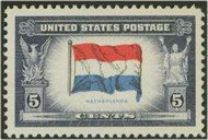 913 5c Netherlands F-VF Mint NH 913nh