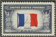 915 5c France F-VF Mint NH 915nh