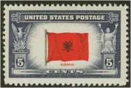 918 5c Albania F-VF Mint NH 918nh