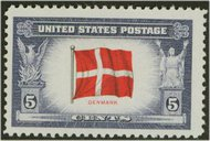 920 5c Denmark F-VF Mint NH 920nh