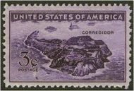 925 3c Corregidor F-VF Mint NH 925nh