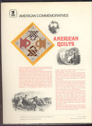 1745-48 13c Amercian Quilts USPS Cat. 93 Commemorative Panel cp093