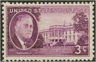 932 3c F.D.Roosevelt F-VF Mint NH 932nh
