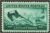 936 3c Coast Guard F-VF Mint NH 936nh